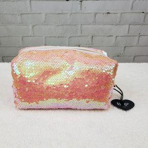 👝 NWT Imoshion Makeup Bag Reversible Sequin Vegan